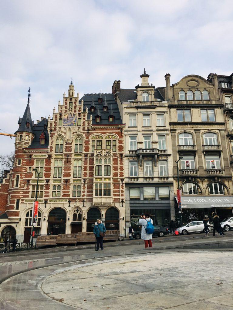 Detalles de. las calles de Bruselas