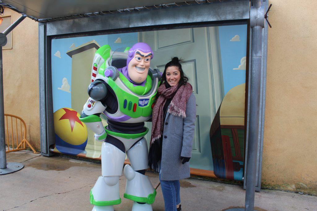 Buzz Lightyear en el Parque Walt Disney Studios en París.