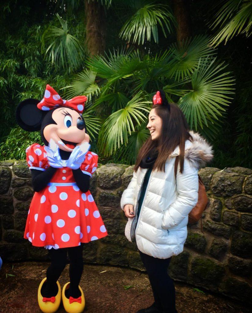 Foto con Minnie Mouse