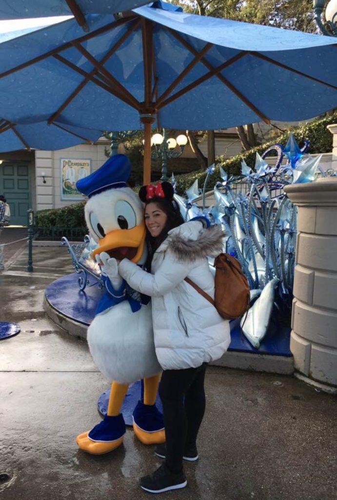 Foto con el Pato Donald
