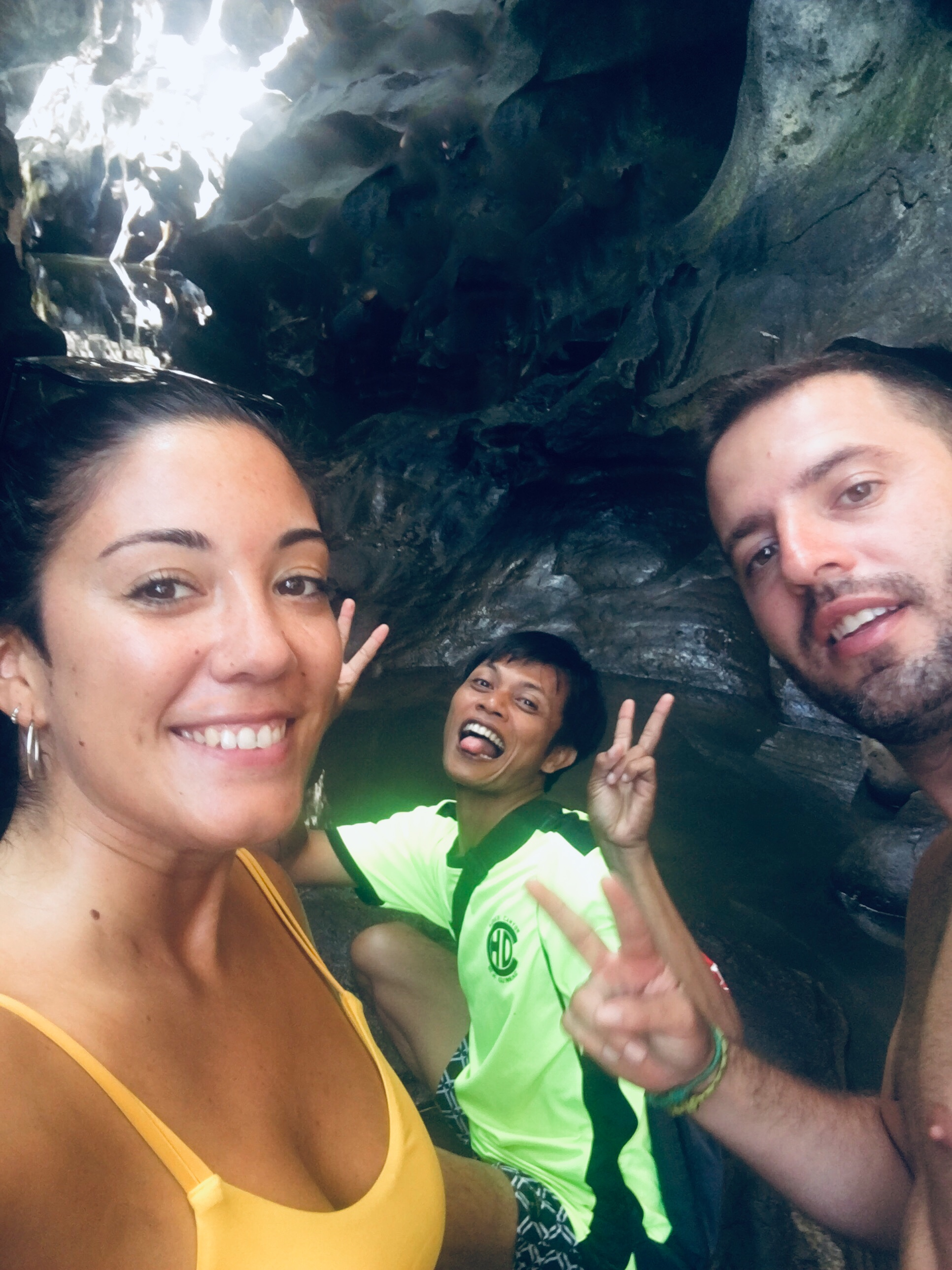 Con nuestro guía en Hidden Canyon Beji Guwang.