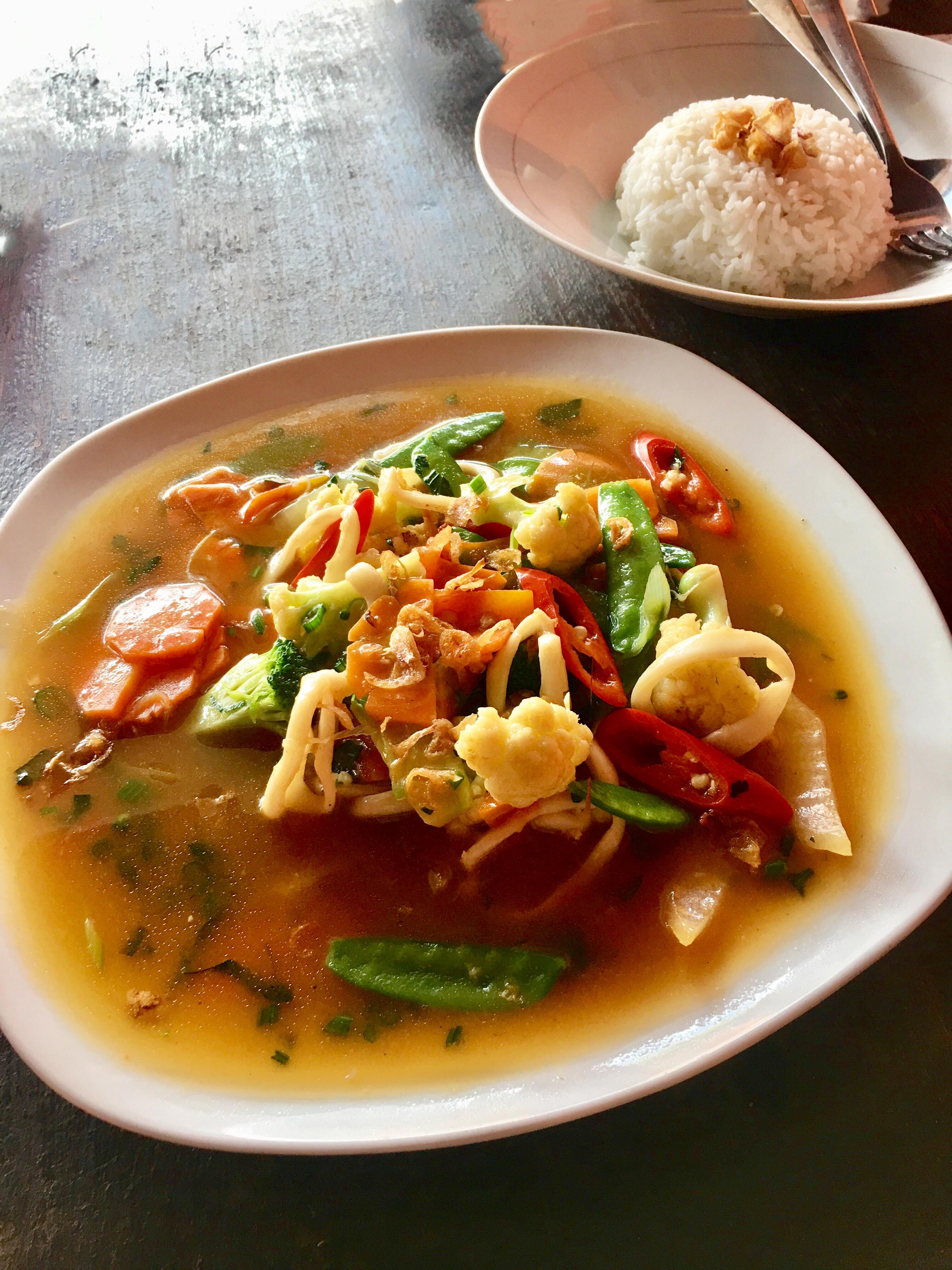 Qué comer en Bali y en Indonesia.
