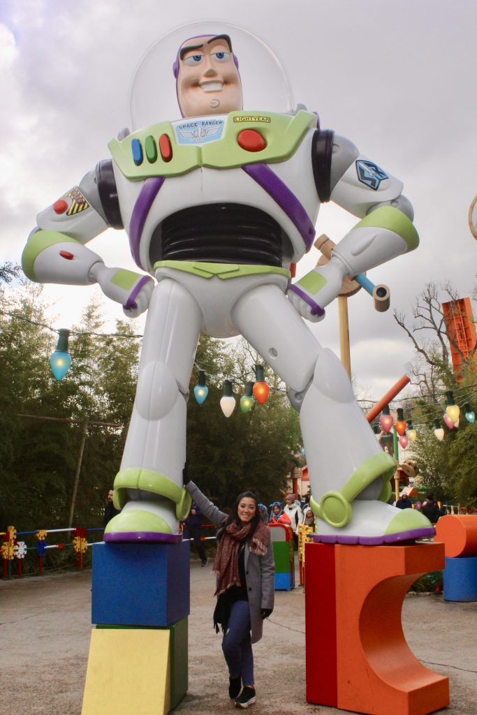 Buzz lightyear en Walt Disney Studios.