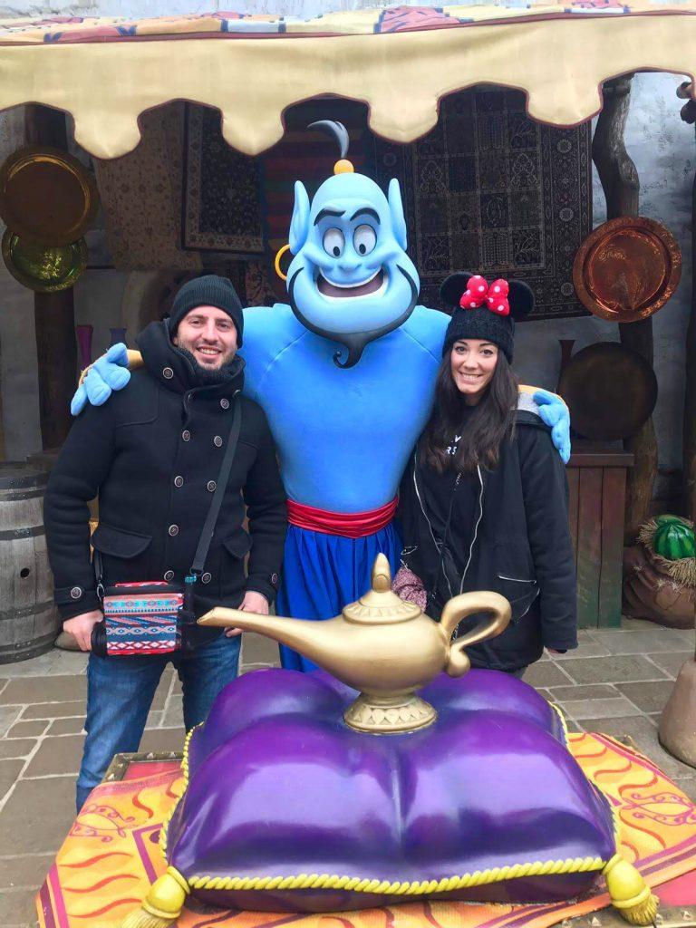 El Genio de la Lámpara en el parque Disneyland en París