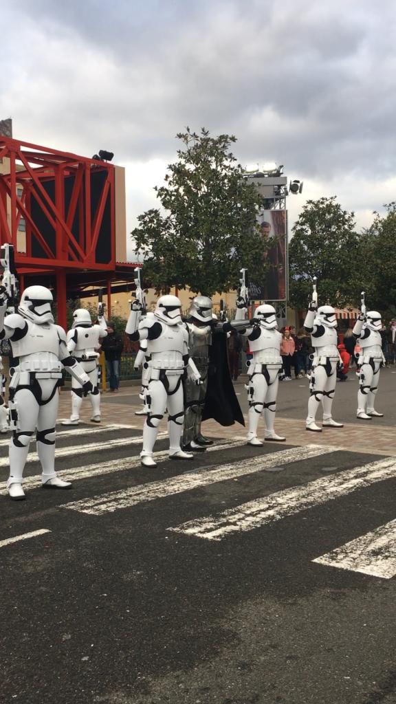 Desfile de Star Wars en el Parque Walt Disney Studios.
